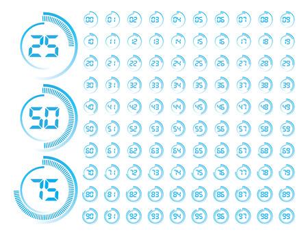 Blue Round Progress Indicator Vector