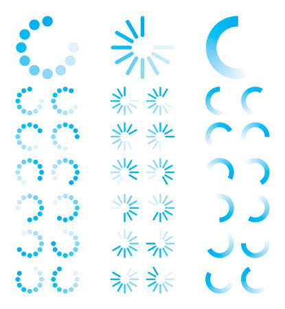 Blue Round Progress Indicators Vector