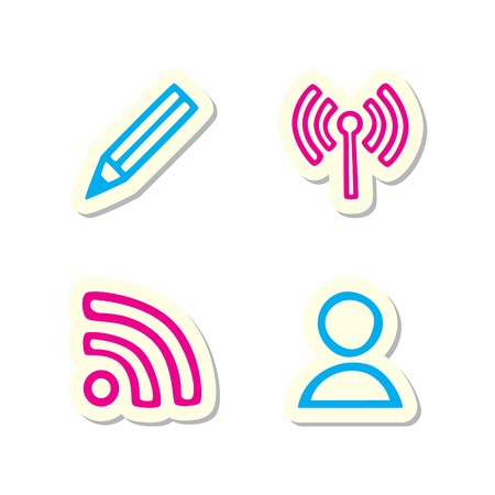 Blogging Icons Vector