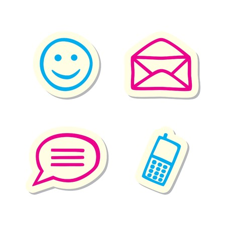cartoon face: Communication Icons