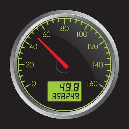 gagant: Indicateur de vitesse  Illustration