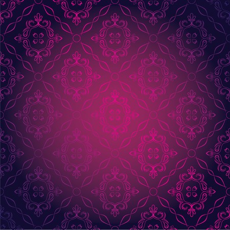 Seamless Damask Wallpaper Stock Vector - 7910430
