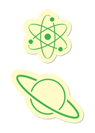 Atom and Planet Icon Stock Vector - 8002179