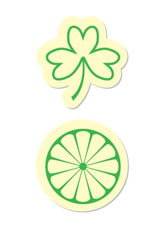 Clover and Citrus Icons Stock Vector - 8002177