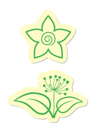Vector Floral Icons Stock Vector - 8002198