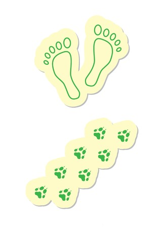 Footstep Icons Stock Vector - 8002238