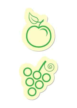 Apple and Grape Icons