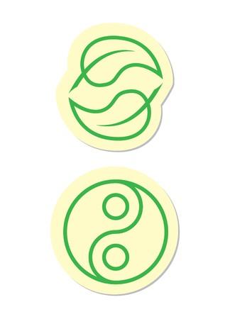 Yin Yang Icons Vector