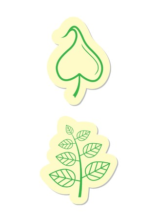 Leaf Icons Stock Vector - 8002196