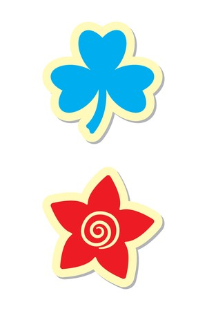 Clover and Flower Icons Stock Vector - 8167553