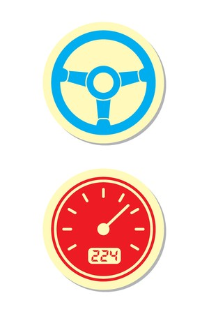 glow stick: Wheel and Speedometer Icons