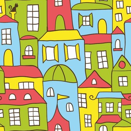 row houses: Sfondo di casa senza saldatura