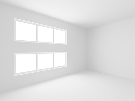 Empty White Room Stock Photo - 8248961