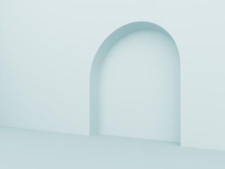 Blue Arch Interior Background photo