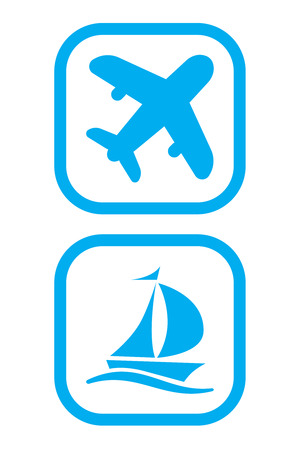 sailer: Plane and Ship Icons