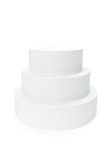 dais: Pedestal Isolated on White
