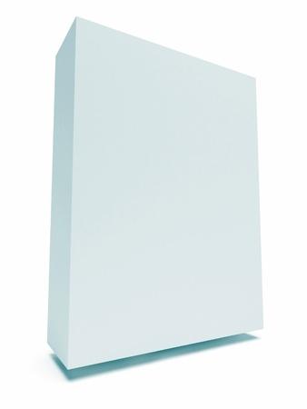Blank Box Isolated on White photo