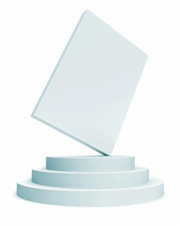 dais: White Box Isolated on White