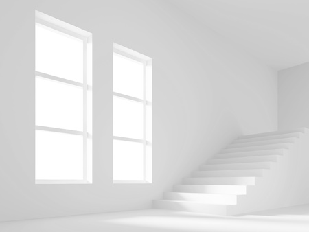 Empty Room with Staircase Stock Photo - 9241340