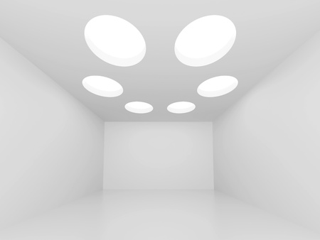 White Abstract Interior  Background Stock Photo - 9241332