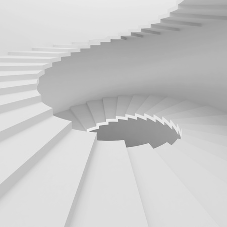 White Spiral Staircase Background Stock Photo - 9237657