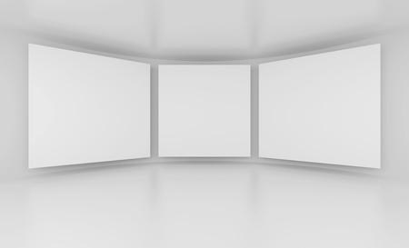 Gallery Interior or White Screens Stock Photo - 9237698