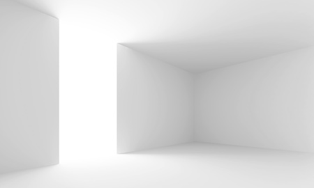 White Abstract Interior Background Stock Photo - 9237670