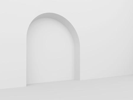 White Arch Interior Background Stock Photo - 9237675
