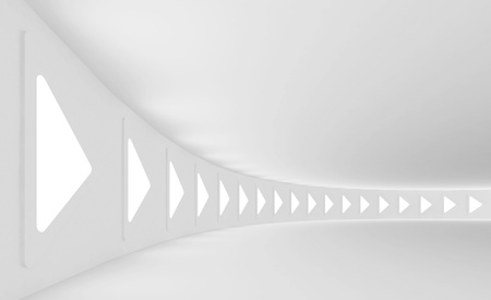 White Futuristic Hall Interior photo