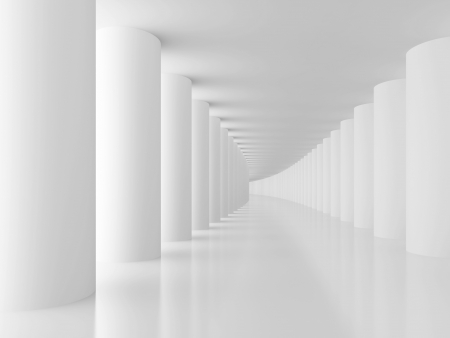 White Columns Hall Background photo