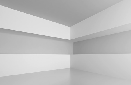 White Abstract Interior Background Stock Photo - 9237673