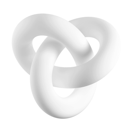 infinite symbol: Abstract Shape Isolated on White