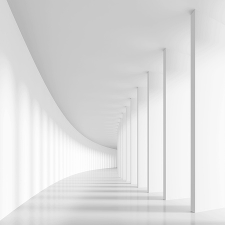 Long Hall with Columns Stock Photo - 9313288