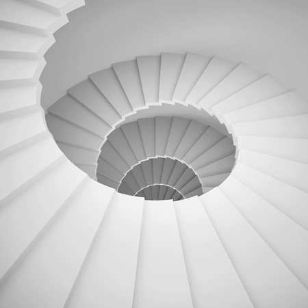 Spiral Staircase Background Stock Photo