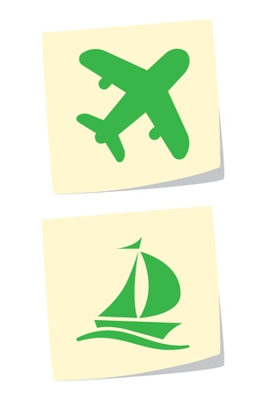 sailer: Vector Plane and Ship Icons