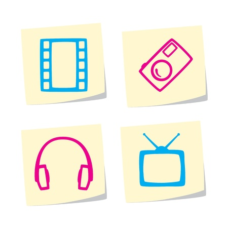 Media Icons Stock Vector - 9402336