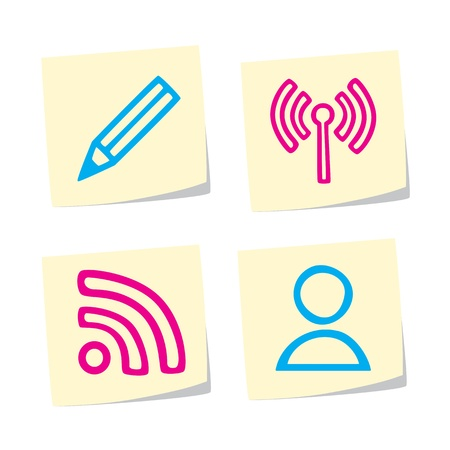 Blogging Icons Stock Vector - 9402335