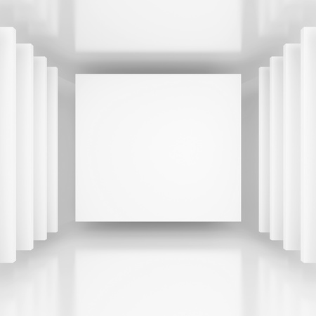 art gallery interior: White Abstract Background