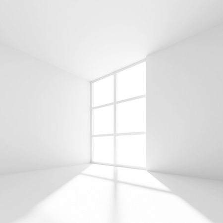 White Abstract Interior Background Stock Photo - 10026958