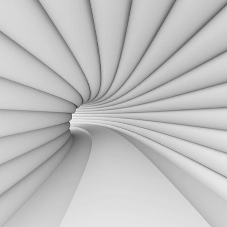 White Futuristic Architecture Design Stock Photo - 10026965