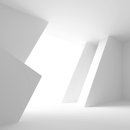 open space: White Modern Empty Room
