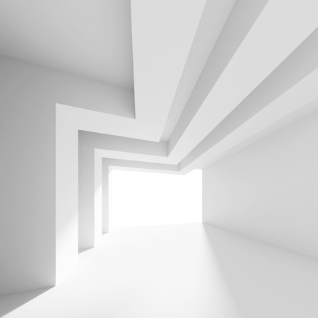 White Abstract Interior photo
