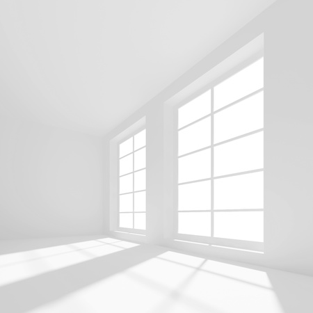 White Modern Hall Background photo