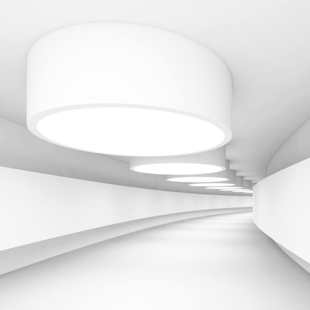 light tunnel: White Abstract Architecture Construction