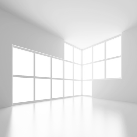 white room: Abstract Interior Background Stock Photo