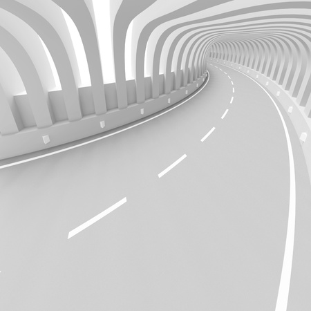 open road: Futuristic Tunnel Background Stock Photo