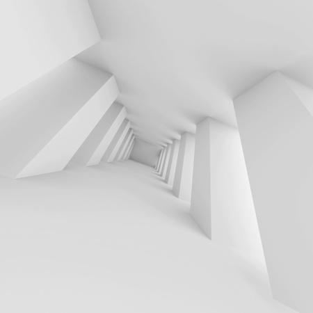 White Futuristic Corridor photo