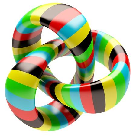 simbolo infinito: Forma abstracta aislada sobre fondo blanco Foto de archivo