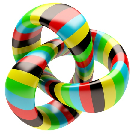 geometria: Forma abstracta aislada sobre fondo blanco Foto de archivo