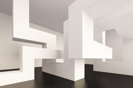 3d Illustration of Blue Abstract Interior Design Stock Illustration - 10638977